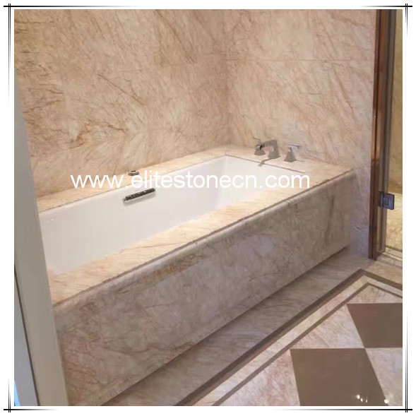 ES-M09  Golden Spider Marble Polished White Marble With Gold Vein