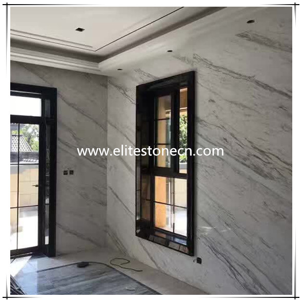 ES-M11 Greece Volakas White Marble Own Quarry Slab Tile For Floor and Wall Project