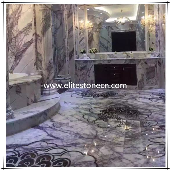 ES-M18 lilac marble for indoor decoration