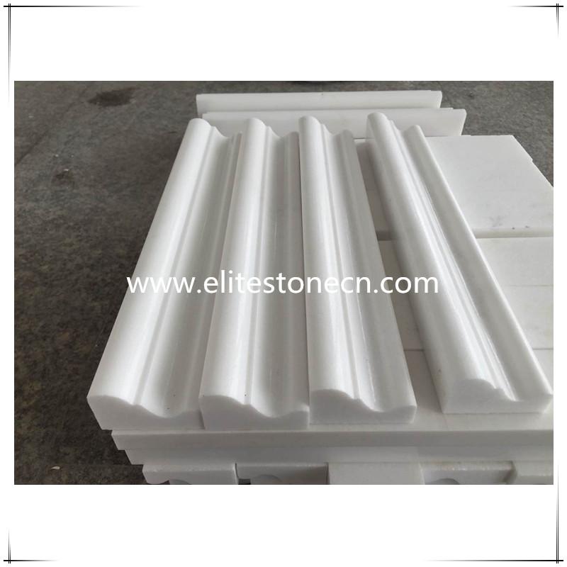 ES-B02 Thassos White 2x12 Chair Rail Crown Molding - Marble from Greece
