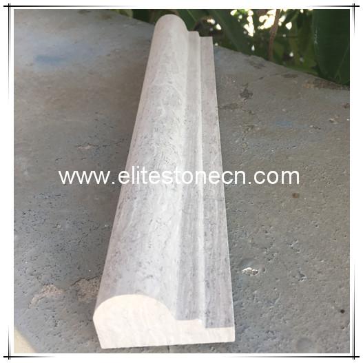 ES-B30 White Wood Grain 2x12 Chair Rail Bullnose Trim Molding