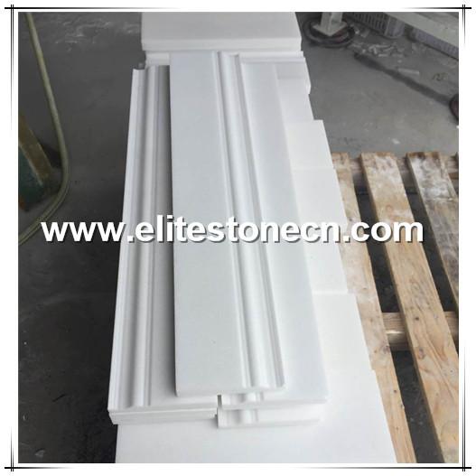 ES-B06 Thassos White Greek Marble Baseboard Trim Molding 5 x 12