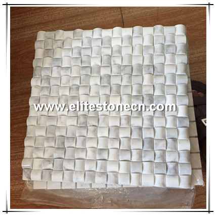 ES-C77 Wholesale Products 3D bread square marble mosaic